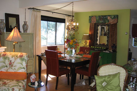 Dining Room on Green And Eclectic Dining Room
