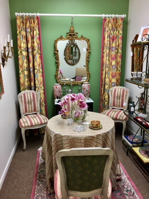 Stunning Fabrics and a French Dining Table